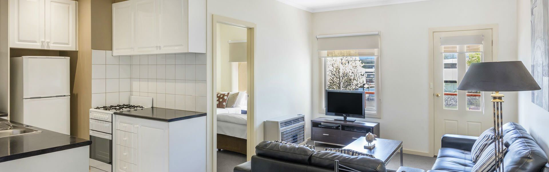 Book a one, two or three Bedroom Apartment